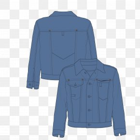 Denim Jacket - Shirt Jacket Coat Denim Outerwear PNG