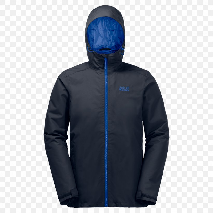 Hoodie Jacket Jack Wolfskin Clothing Blue, PNG, 1024x1024px