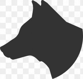 Dog Head Silhouette - Pug Pomeranian Pointer Siberian Husky Puppy PNG