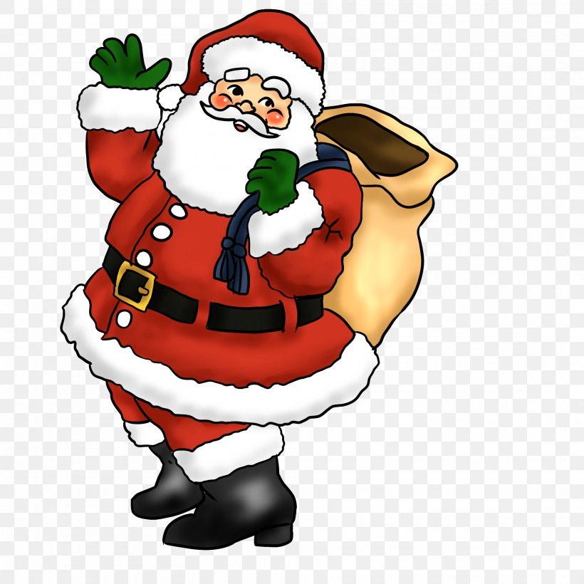 Santa Claus Father Christmas Candy Cane Clip Art, PNG, 2000x2000px, Santa Claus, Blog, Cartoon, Christmas, Christmas Decoration Download Free