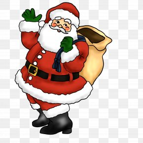 Santa Claus Image - Santa Claus Father Christmas Candy Cane Clip Art PNG