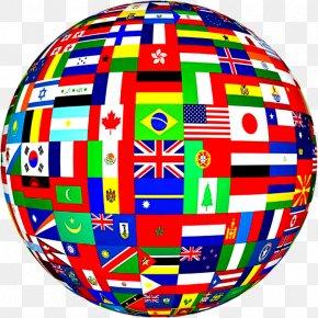 Globe - Flags Of The World Globe World Flag PNG