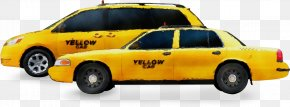 Law Enforcement Sedan - Vehicle Taxi Ford Crown Victoria Car Yellow PNG