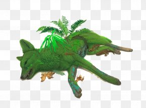 Green Moss Fox - United States Nature Painting Flora Illustration PNG