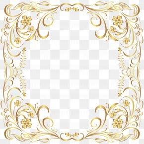 Deco Gold Border Frame Clip Art - Picture Frame PNG