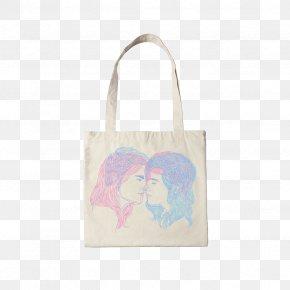 Decorative Colored Canvas Bag Couple - Canvas Paper Couple Tote Bag PNG