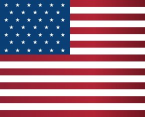 USA Flag Large Clipart Image - Flag Of The United States The Star-Spangled Banner PNG