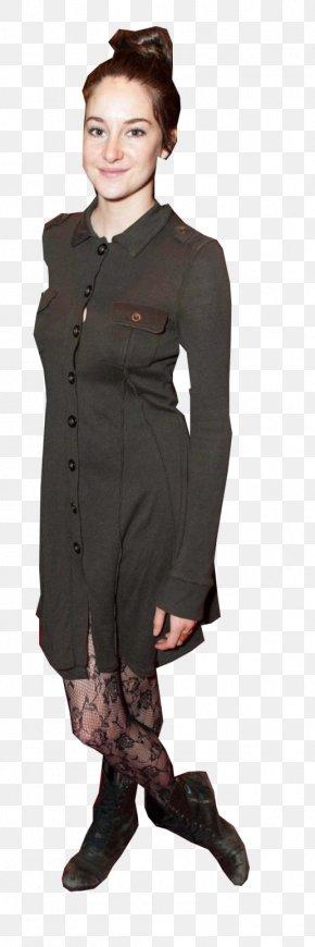 Shailene Woodley - Outerwear Coat Dress Sleeve Tights PNG