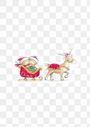 Christmas Santa Claus Elk Material - Santa Claus Christmas PNG