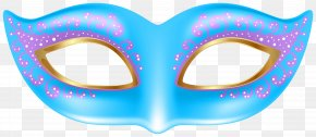 Blue Mask Transparent Clip Art Image - Mask Stock Illustration Mardi Gras Clip Art PNG