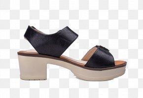 Black High-heeled Sandals - Sandal High-heeled Footwear Elevator Shoes PNG