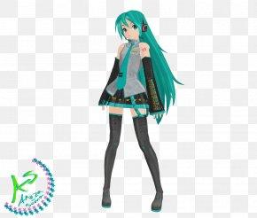 Long Hair - Hatsune Miku: Project DIVA 2nd MikuMikuDance Vocaloid Long Hair PNG