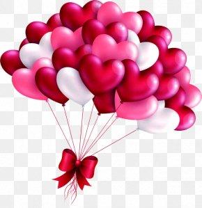 Valentines Day Love Balloon - Valentine Love Heart Balloon Valentine's Day Picture Frame PNG