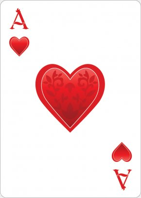 Heart Playing Cards - Alices Adventures In Wonderland Queen Of Hearts Playing Card Ace Of Hearts PNG