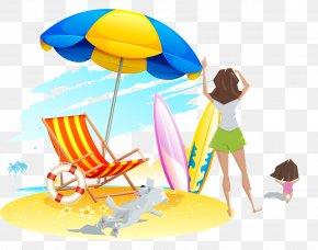 Sand Beach - Beach Deckchair Clip Art PNG