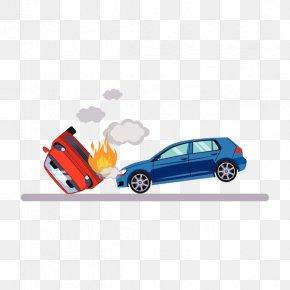 Crash Fire - Car Traffic Collision Illustration PNG