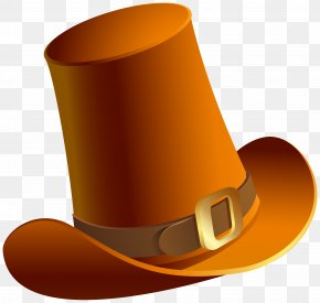 Brown Pilgrim Hat Transparent Image - Hat Product Font Design PNG