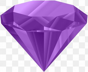 Purple Diamond Clip Art Image - Diamond Ring Clip Art PNG