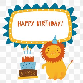Happy,birthday Birthday - Birthday Cake Lion Happy Birthday To You PNG
