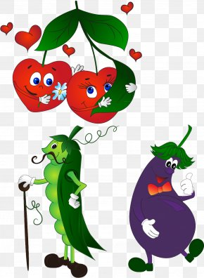 Cherry Eggplant Vector Elements - Cartoon Royalty-free Clip Art PNG