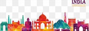 Vector Illustration Indian Architecture - Indian Cuisine Travel Business Food PNG