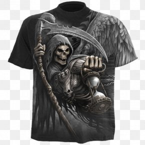 T-shirt - T-shirt Death Hoodie Skull PNG