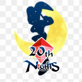 20th Anniversary - PlayStation 2 Nights Into Dreams Logo Brand Font PNG