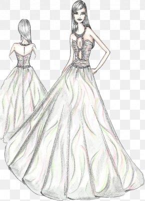 Dress - Dress Drawing Woman Sketch PNG