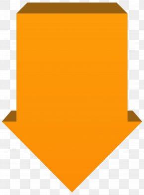 Orange Arrow Down Transparent Clip Art Image - Arrow Clip Art PNG