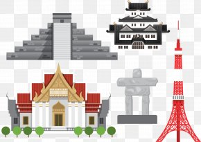 Vector Building Material Thailand, Japan And Mexico - Thailand Thai Cuisine Thai Art Illustration PNG