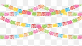 Fiesta - Paper Papel Picado Party Banner Clip Art PNG