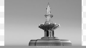 Fountain - Monochrome Photography Autodesk 3ds Max Autodesk Maya Black And White PNG