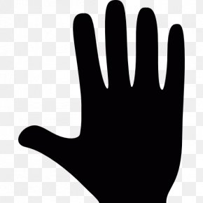 Thumb Black And White Hand Model PNG