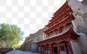 Thousands Of Cave In Gansu - Mogao Caves Jiayuguan City Crescent Lake Zhangye Qinghai Lake PNG