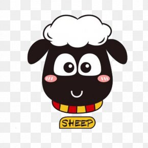 Black Goat And English - Goat Cartoon Icon PNG