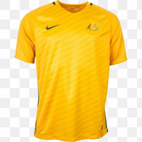 JERSEY - T-shirt Australia National Soccer Team Jersey Sleeve PNG