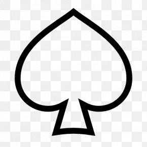 Suit - Ace Of Spades Playing Card Espadas PNG