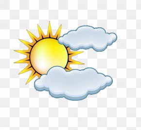 Sun Clouds Weather Icon - Cloud Icon PNG