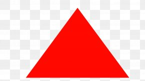 New - Triangle Red Logo Clip Art PNG