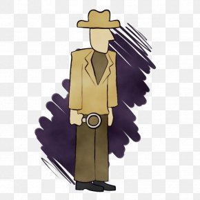 Fictional Character Outerwear - Watercolor Background PNG