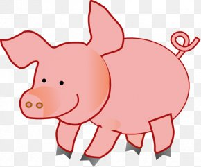 Cute Pig Cliparts - Livestock Cattle Farm Clip Art PNG