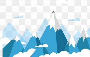 Rolling Snow Mountain Vector - Mount Everest Euclidean Vector Mountain PNG
