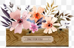 Vector Hand-painted Floral Decorative Pattern - Watercolor Painting Flower Floral Design PNG