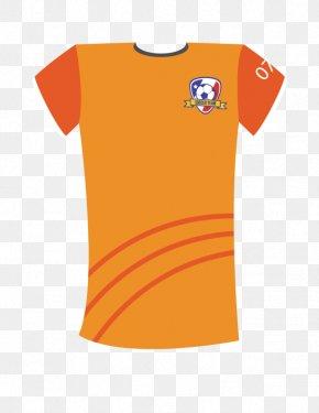 Orange Soccer Jersey - T-shirt Jersey PNG