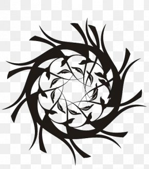 Graphic Design Floral - Graphic Design Black And White PNG