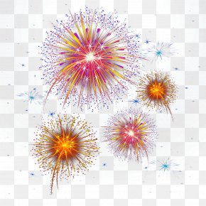 Small Colored Dots Fireworks - Point Geometry PNG
