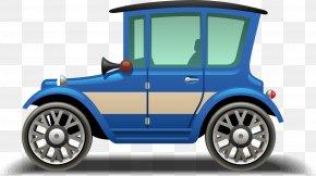 Retro Cartoon Car - Sports Car Tire Vintage Car Automotive Design PNG