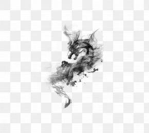 Dragon - Ink Wash Painting Download PNG