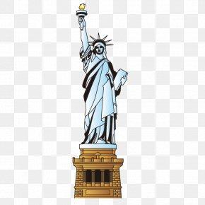 Statue Of Liberty - Statue Of Liberty Cartoon Landmark PNG