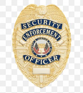Security Officer - Badge Police Officer Repossession Law Enforcement PNG
